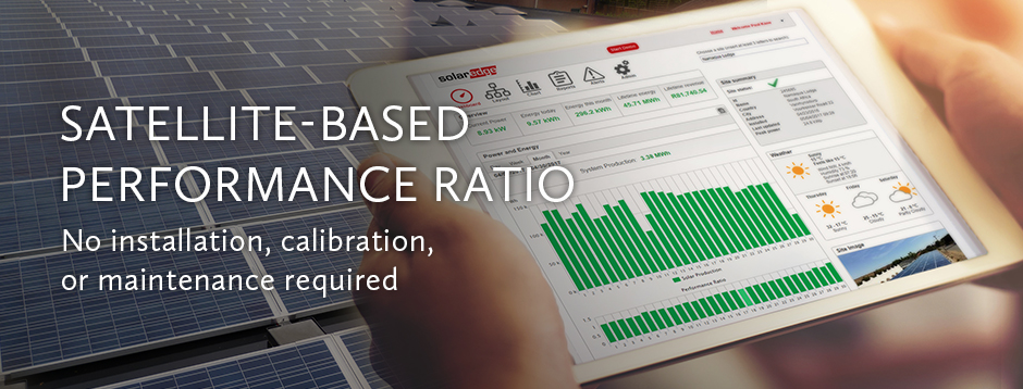 Satellite-Based Performance Ratio No Installaion, Calibration or maintenance required