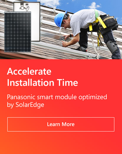 Accelerate Installation Time Panasonic smart module optimized by SolarEdge