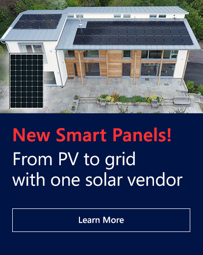 New Smart Panels! From PV to grid with one solar vendor. Learn More