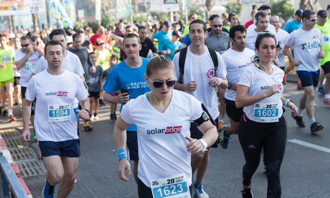 SolarEdge Employees Running the Ra'anana Race