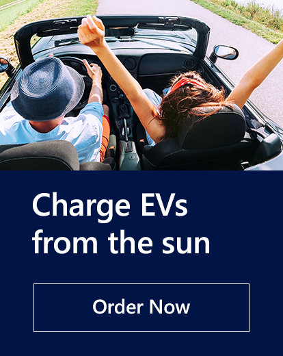 Charge EVs from the sun. Order now