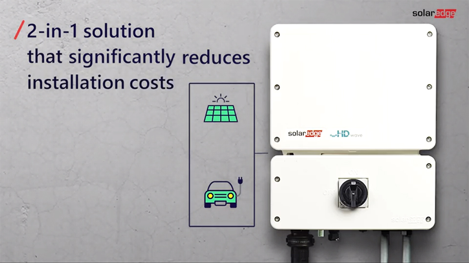 world's first 2-in-1 ev charger and solar inverter image
