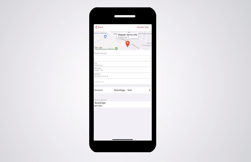 SolarEdge Site Mapper App – Creating New Sites Demo