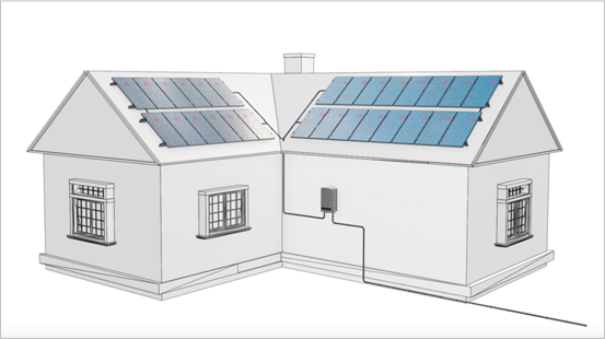 Video of animated home with solar panels