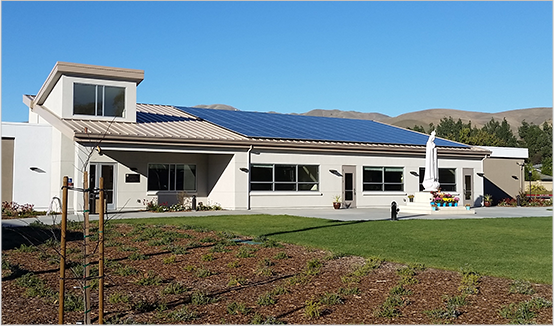 Residential home with SolarEdge solar configuration
