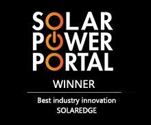 Solar Power Portal Awards 2015 Winner Best Industry Innovation SolarEdge